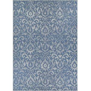 Marseille St. Marcel Blue Rectangular: 2 Ft. 3 In. x 11 Ft. 9 In. Indoor/Outdoor Runner