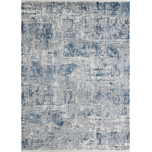 Marblehead Breccia Blue and Grey Rectangular: 2 Ft. 6 In. x 7 Ft. 10 In. Runner