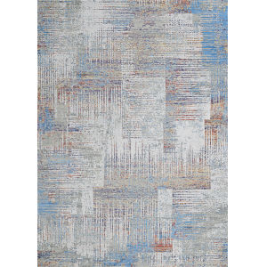 Vibrata Watercolor Blocks Multicolor 2 Ft. 7 In. x 7 Ft. 6 In. Rectangular Runner Rug