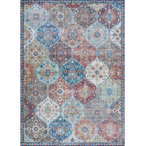 Pasha Lola Multi-colored Rectangular: 5 Ft. x 8 Ft. Rug