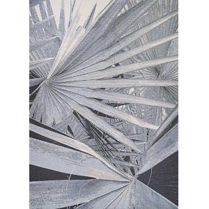 Dolce Kalamiaris Palms Silver 5 Ft. 3 In. x 7 Ft. 6 In. Rectangular Indoor/Outdoor Area Rug