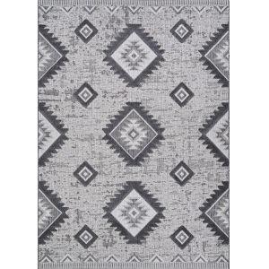 Veranda Posh Light Gray and Anthracite 7 Ft. 10 In. x 10 Ft. 9 In. Rectangular Indoor/Outdoor Area Rug