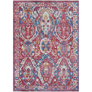 Bliss Zagros Poppy Red Rectangular: 3 Ft. 11 In. x 5 Ft. 11 In. Rug