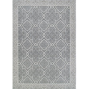 Fresco Dutch Graystone 2 Ft. 7 In. x 7 Ft. 9 In. Rectangular Indoor/Outdoor Runner Rug