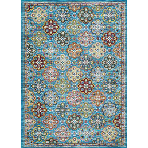 Gypsy Nameh Blue Topaz Rectangular: 2 Ft. 3 In. x 7 Ft. 6 In. Runner