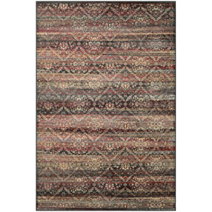 Zahara All Over Diamond Red and Black and Oatmeal Runner: 2 Ft. x 3 Ft. 7-Inch