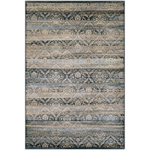 Zahara All Over Diamond Black, Light Blue and Oatmeal Runner: 2 Ft. x 3 Ft. 7-Inch