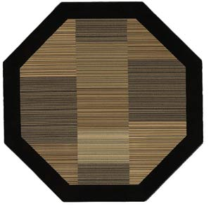 Everest Hamptons Black Octagon: 5 Ft. 3 In. Rug