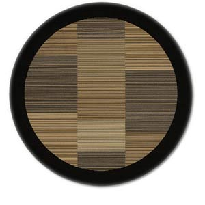 Everest Hamptons Black Round: 5 Ft. 3 In. Rug