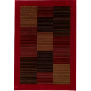 Everest Hamptons Red Rectangular: 5 ft. 3 in. x 7 ft. 6 in. Rug