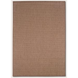 Recife Saddle Stitch Cocoa Rectangular: 5 Ft. 3 In.  x  7 Ft. 6 In. Rug