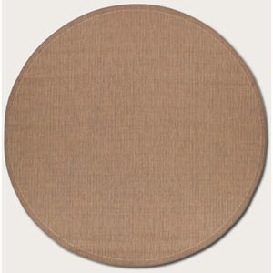 Recife Saddle Stitch Cocoa Round: 7 Ft. 6 In. Rug