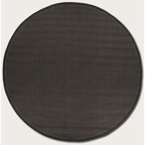Recife Saddle Stitch Black Round: 7 Ft. 6 In. Rug