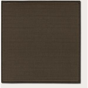 Recife Saddle Stitch Black Square: 7 Ft. 6 In. x 7 Ft. 6 In. Rug