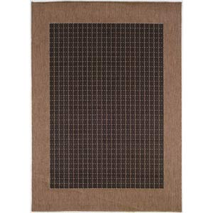 Recife Checkered Field Black and Cocoa Rectangular: 5 ft. 10 in. x 9 ft. 2 in. Rug