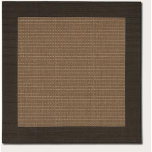 Recife Checkered Field Cocoa Square: 7 Ft. 6 In. x 7 Ft. 6 In. Rug