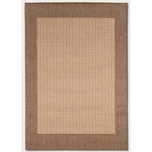 Recife Checkered Field Natural Beige Rectangular: 5 Ft. 3 In.  x  7 Ft. 6 In. Rug