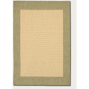 Recife Checkered Field Natural Rectangular: 5 Ft. 3 In.  x  7 Ft. 6 In. Rug