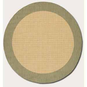 Recife Checkered Field Natural Round: 7 Ft. 6 In. Rug