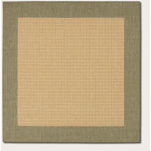 Recife Checkered Field Natural Square: 7 Ft. 6 In. x 7 Ft. 6 In. Rug