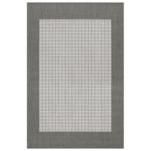 Recife Checkered Field Grey and White 8 Ft. 6 In. X 13 Ft. Indoor/Outdoor Rectangular Rug