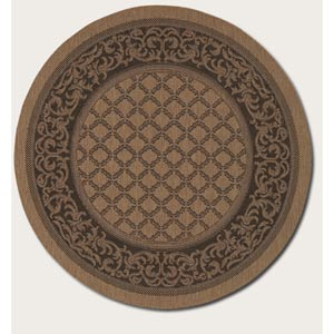 Recife Garden Lattice Cocoa Round: 7 Ft. 6 In. Rug