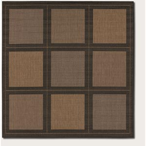 Recife Summit Cocoa Square: 7 Ft. 6 In. x 7 Ft. 6 In. Rug