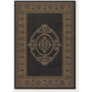 Recife Antique Medallion Black Cocoa Rectangular: 5 ft. 10 in. x 9 ft. 2 in. Rug