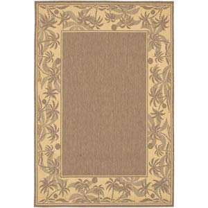 Recife Island Retreat Beige and Natural Rectangular: 5 ft. 3 in. x 7 ft. 6 in. Rug
