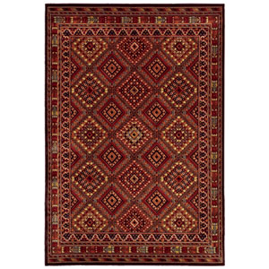 Cire Palmer Multicolor Rectangular: 3 Ft 11 In x 5 Ft 5 In Rug Rug