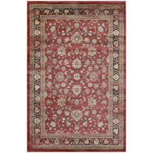 Zahara Farahan Amulet Red, Black and Oatmeal Runner: 2 Ft. x 3 Ft. 7-Inch