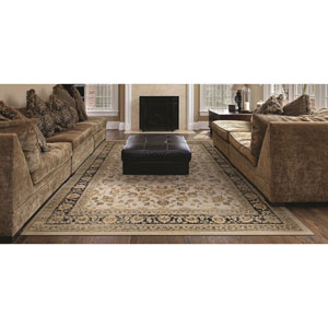 Zahara Farahan Amulet Oatmeal and Black Runner: 2 Ft. x 3 Ft. 7-Inch