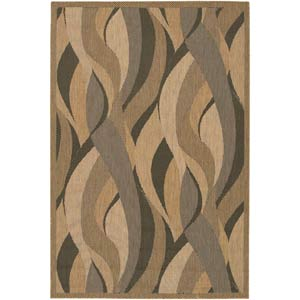 Recife Seagrass Natural and Black Rectangular: 5 ft. 3 in. x 7 ft. 6 in. Rug