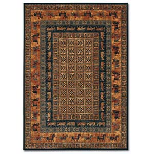 Old World Classics Pazyrk Burnished Rust Rectangular: 5 ft. 6 in. x 7 ft. 10 in. Rug