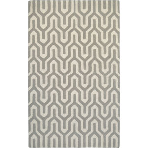 Super Indo-Natural Cambria White and Gray Rectangular: 2 Ft. x 4 Ft. Rug