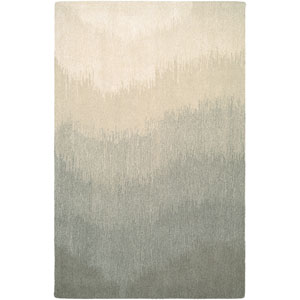Super Indo-Natural Neutral Ombre Gray Rectangular: 2 Ft. x 4 Ft. Rug