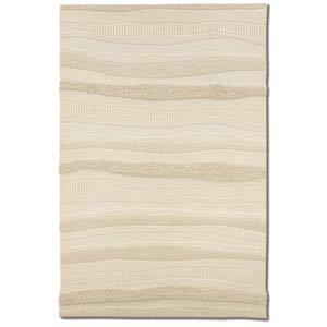 Super Indo-Natural Impressions Stripe White Rectangular: 5 Ft. 6 In. x 8 Ft. Rug