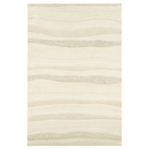 Super Indo-Natural Impressions Stripe White Rectangular: 2 Ft. x 4 Ft. Rug