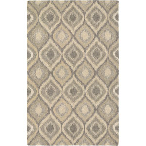 Super Indo-Natural Ridley Cream and Brown Rectangular: 2 Ft. x 4 Ft. Rug