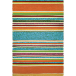 Covington Sherbet Stripe Multicolor Rectangular: 2 Ft x 4 Ft Rug