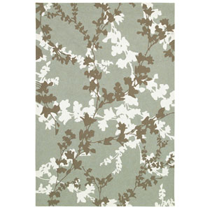 Covington Willow Branch and Sage-Ivory Rectangular: 5 Ft. 6 In. x 8 Ft. Rug