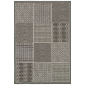 Monaco Vistimar and Blue-Grey Rectangular: 5 Ft. 3 In. x 7 Ft. 6 In. Rug