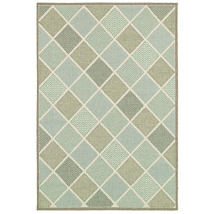 Monaco Meridian and Multi-Colored Rectangular: 5 Ft. 3 In. x 7 Ft. 6 In. Rug