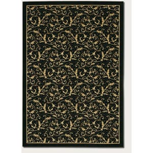 Everest Royal Scroll Ebony Rectangular: 5 Ft. 3 In.  x  7 Ft. 6 In.  Rug