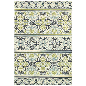 Covington Pegasus and Ivory-Navy-Lime Rectangular: 5 Ft. 6 In. x 8 Ft. Rug