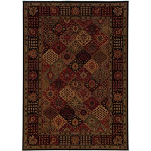 Everest Antique Baktiari Midnight Rectangular: 5 ft. 3 in. x 7 ft. 6 in. Rug