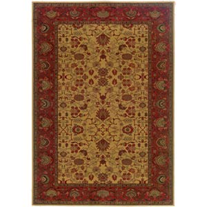 Everest Tabriz Harvest Gold Rectangular: 5 ft. 3 in. x 7 ft. 6 in. Rug