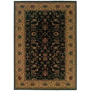 Everest Tabriz Midnight Rectangular: 5 ft. 3 in. x 7 ft. 6 in. Rug