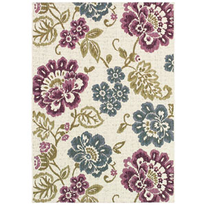 Dolce Tivoli Ivory Rectangular: 5 Ft. 3 In. x 7 Ft. 6 In. Rug