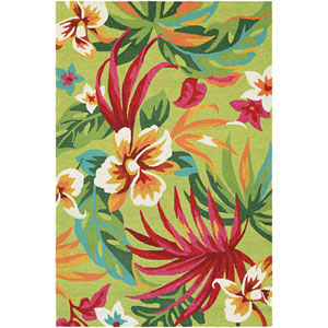 Covington Painted Fern Red Rectangular: 2 Ft x 4 Ft Rug